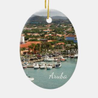 Ornement Ovale En Céramique Marina d'Aruba