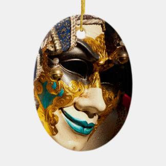 Ornement Ovale En Céramique Masque vénitien