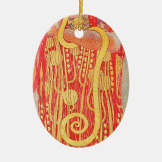 Ornement Ovale En Céramique Médecine de Gustav Klimt