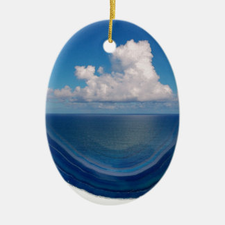 Ornement Ovale En Céramique Mer en cristal