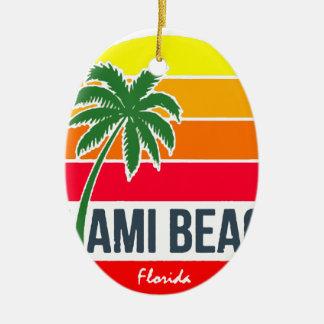 Ornement Ovale En Céramique Miami Beach
