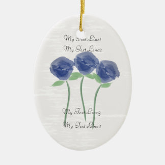 Ornement Ovale En Céramique Mignon ajoutez l'ornement de fleurs de roses