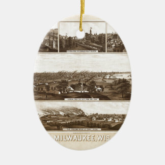 Ornement Ovale En Céramique Milwaukee 1882
