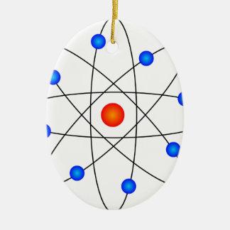 Ornement Ovale En Céramique Modèle d'atome