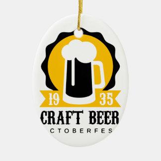 Ornement Ovale En Céramique Modèle de conception de logo de bière de métier