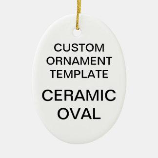Ornement Ovale En Céramique Modèle ovale d'ornement de Noël de porcelaine