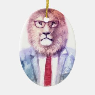 Ornement Ovale En Céramique Mon lion