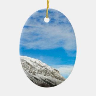 Ornement Ovale En Céramique Montagnes blanches New Hampshire