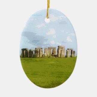 Ornement Ovale En Céramique Monument en pierre de cercle de Stonehenge
