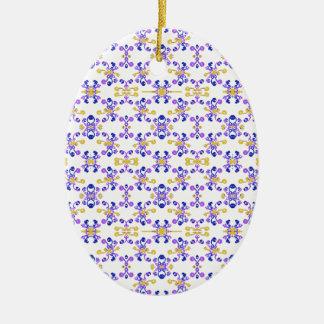 Ornement Ovale En Céramique Motif fleuri décoratif