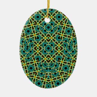 Ornement Ovale En Céramique Motif sans couture d'arabesque