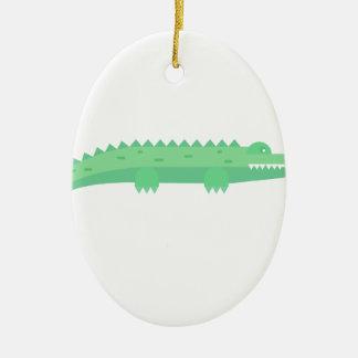 Ornement Ovale En Céramique Motif sans couture de crocodiles drôles