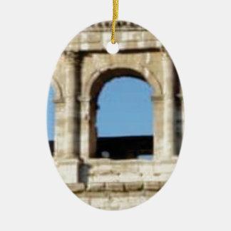 Ornement Ovale En Céramique mur de trois voûtes