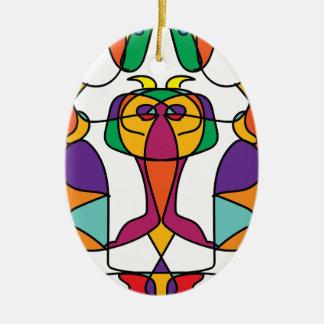 Ornement Ovale En Céramique noa coloré d'illustration d'art de cirque