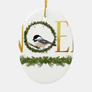 Ornement Ovale En Céramique Noel