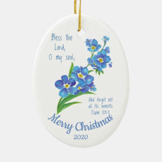 Ornement Ovale En Céramique Noël daté par coutume bénissent le seigneur