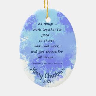 Ornement Ovale En Céramique Noël daté par coutume choisissent l'inquiétude de