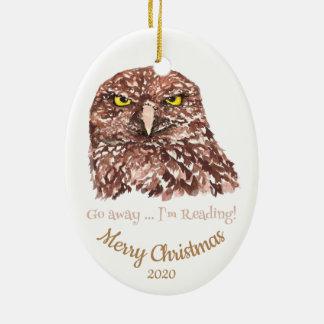 Ornement Ovale En Céramique Noël daté par coutume disparaissent amusement