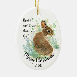 Ornement Ovale En Céramique Noël daté par coutume soit moi suis toujours