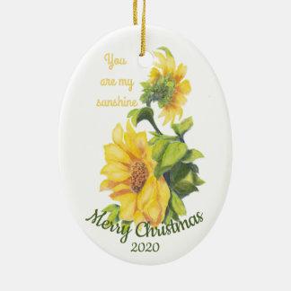 Ornement Ovale En Céramique Noël daté par coutume vous êtes ma citation de