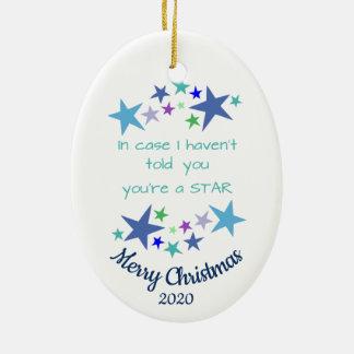 Ornement Ovale En Céramique Noël daté par coutume vous êtes un encouragement