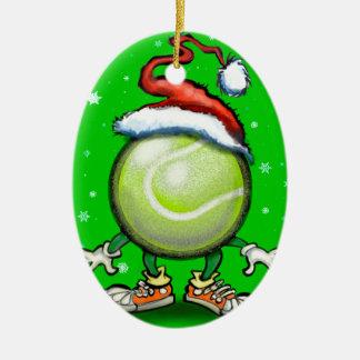 Ornement Ovale En Céramique Noël de tennis