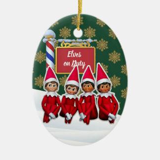 Ornement Ovale En Céramique Noël en service des elfes de FD ornemente 53086B8