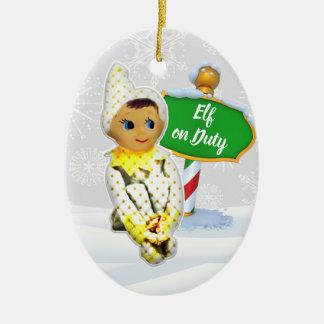 Ornement Ovale En Céramique Noël en service des elfes de FD ornemente 53086C6
