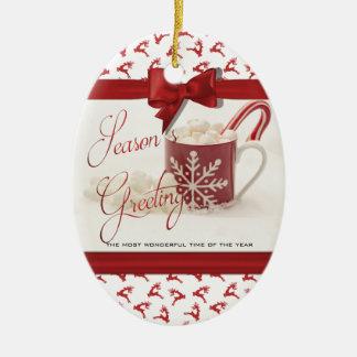 Ornement Ovale En Céramique Noël Holidys, la meilleure période de l'année