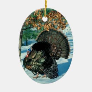 Ornement Ovale En Céramique Noël sauvage de décorations de vacances de photo