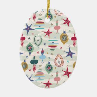 Ornement Ovale En Céramique Noël vintage