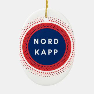 Ornement Ovale En Céramique Nordkapp Norvège