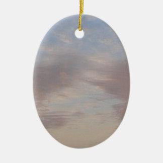 Ornement Ovale En Céramique Nuages colorés