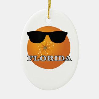 Ornement Ovale En Céramique nuances de la Floride