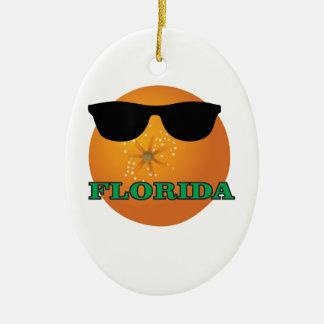 Ornement Ovale En Céramique nuances vertes de la Floride