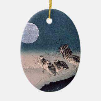 Ornement Ovale En Céramique Nuit des cailles