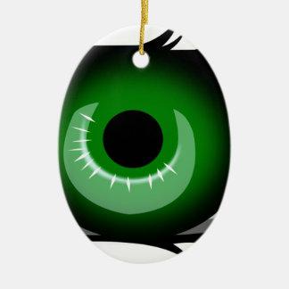 Ornement Ovale En Céramique Oeil vert