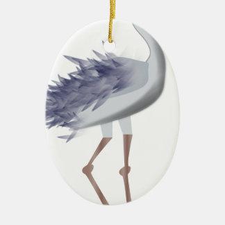 Ornement Ovale En Céramique Oiseau grand