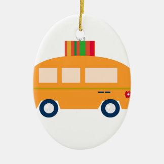 Ornement Ovale En Céramique Or d'autobus de conception