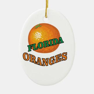 Ornement Ovale En Céramique Oranges de la Floride