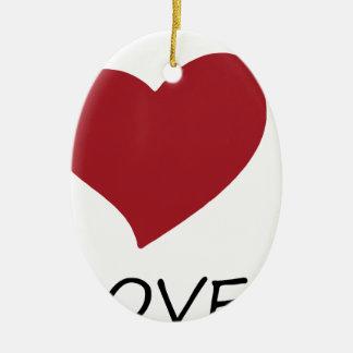 Ornement Ovale En Céramique paix love49