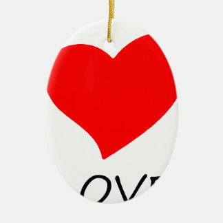 Ornement Ovale En Céramique paix love7