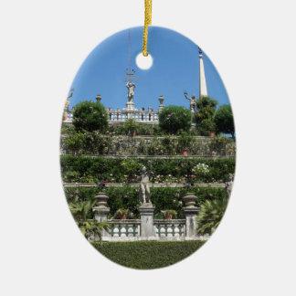 Ornement Ovale En Céramique Palais de Borromeo dans Stresa, Italie