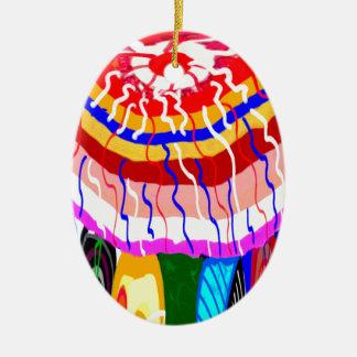 Ornement Ovale En Céramique Parasol décoratif d'auvent de tente de TENTE de