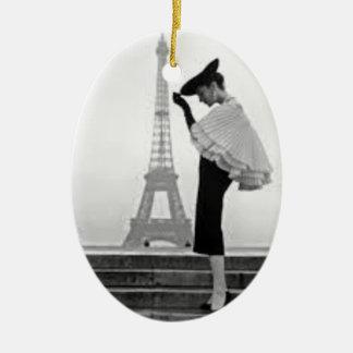 Ornement Ovale En Céramique Paris Fashion