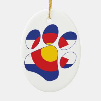 Ornement Ovale En Céramique Patte d'animal familier du Colorado
