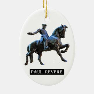 Ornement Ovale En Céramique Paul Revere (le Massachusetts)