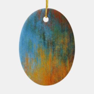 Ornement Ovale En Céramique Peinture à l'huile