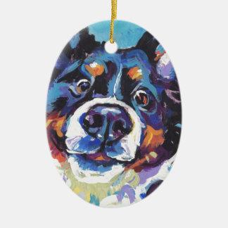 Ornement Ovale En Céramique Peinture d'art de bruit de chien de montagne de