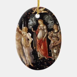 Ornement Ovale En Céramique Peinture de Botticelli Primavera